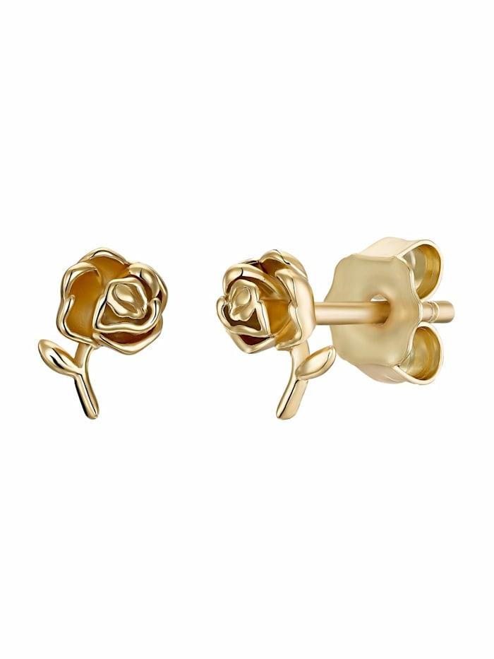 Ohrstecker für Damen, Sterling Silber 925 vergoldet, Rose