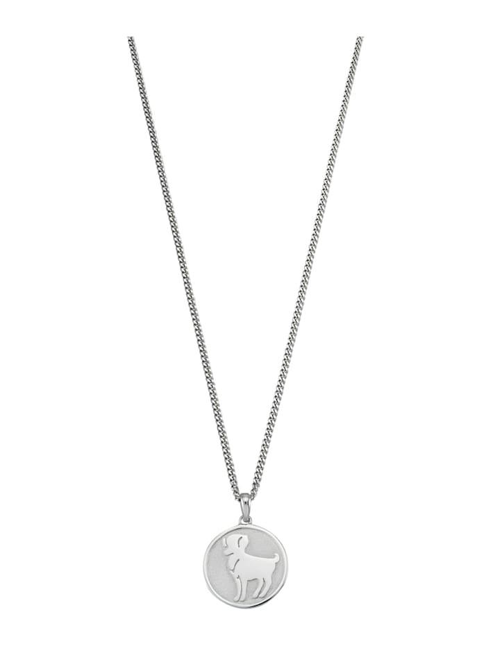 Halsband med stjärntecken Väduren, Vit