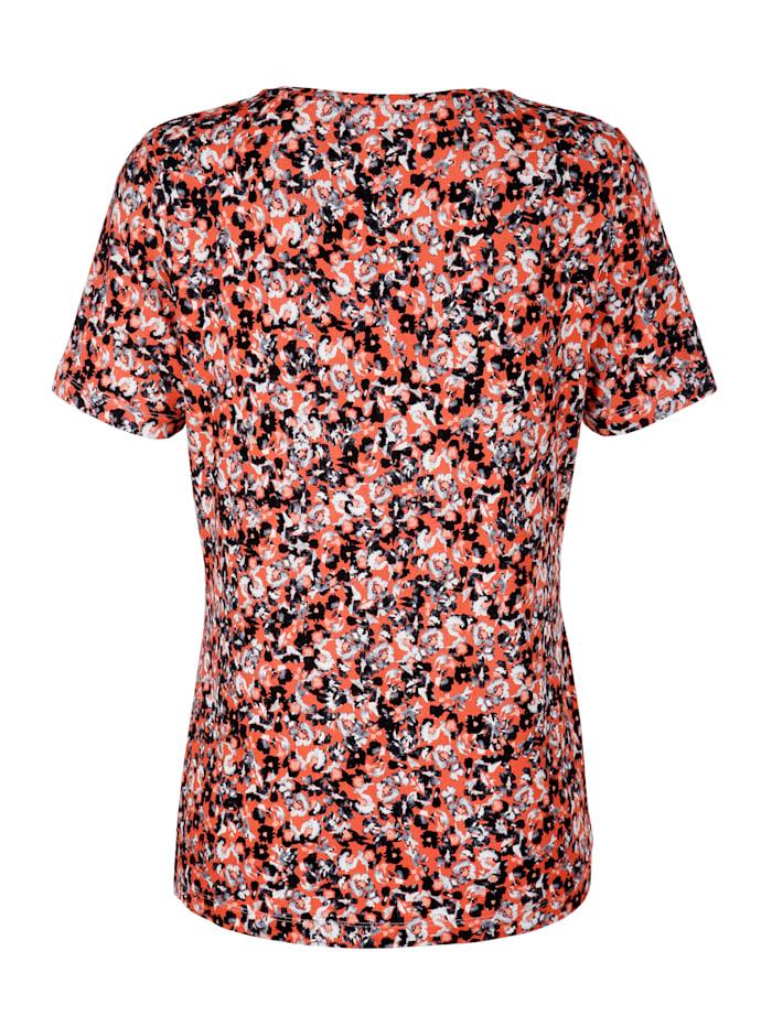 Shirt mit allover Blumendruck