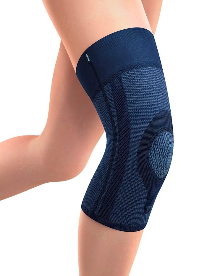 epitact Knäbandage med stöd för knäskålen, Blå