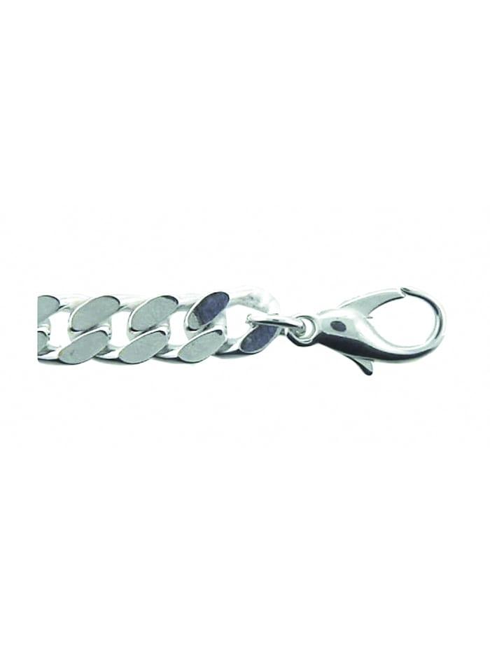 1001 Diamonds Damen Silberschmuck 925 Silber Flach Panzer Armband 19 cm Ø 7,9 mm, silber