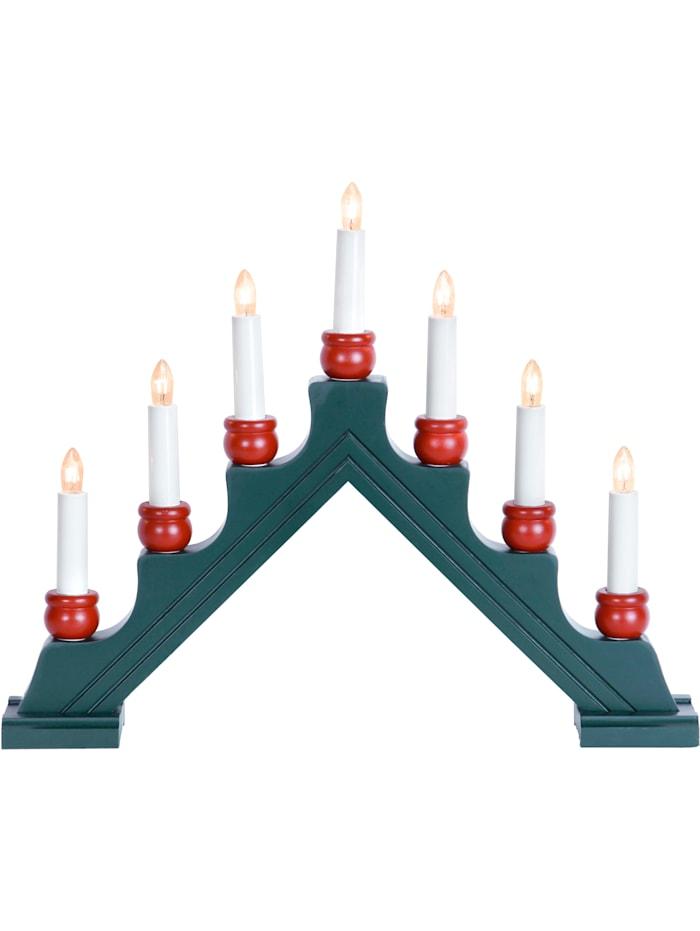 Star Trading 7-ramenný svícen, Zelená