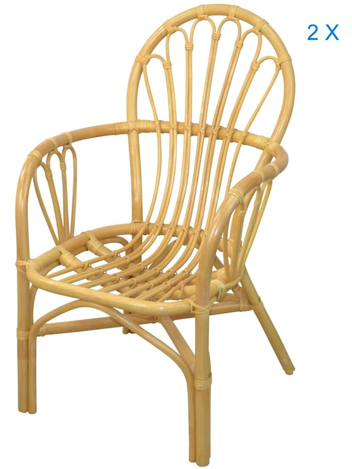 Möbel-Direkt-Online Rattansessel (2Stück) Conny, beige