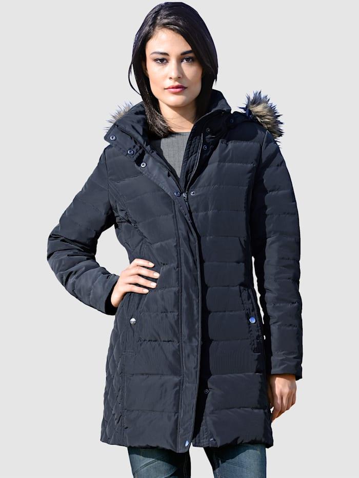 Alba Moda Prešívaná bunda s kapucňou, Námornícka