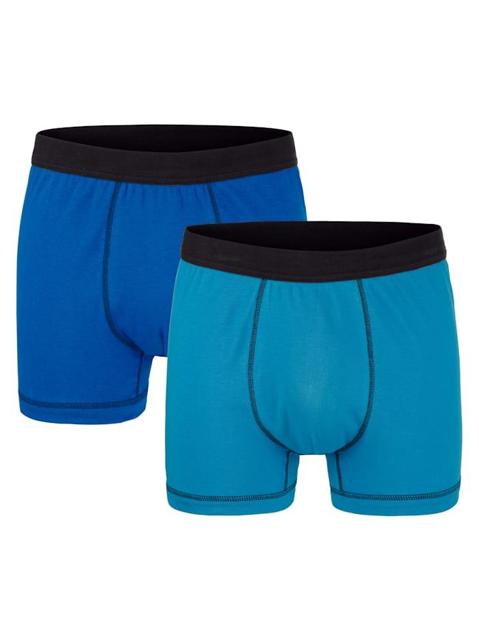 G Gregory Boxershorts per 2 stuks, Blauw/Turquoise