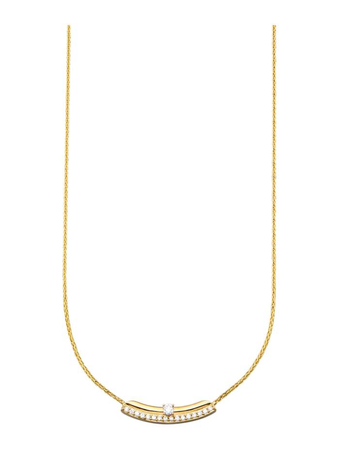 Diemer Diamant Collier mit Brillanten, Weiß