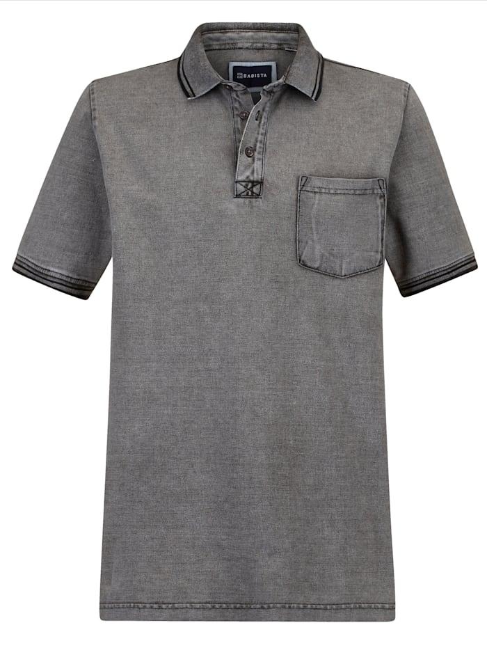 BABISTA Poloshirt in gewaschener Used-Optik, Grau