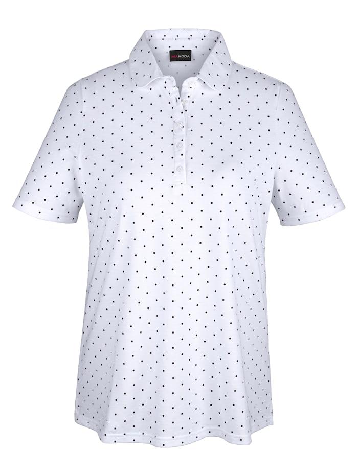 Poloshirt met tijdloos stippendessin