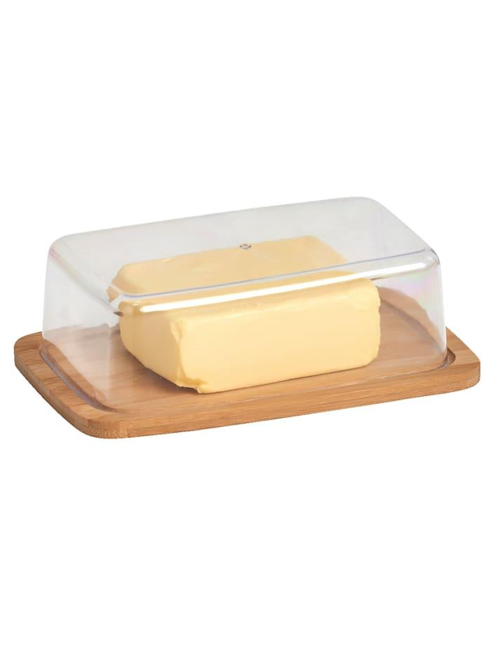 Zeller Smørboks med lokk, lysebrun
