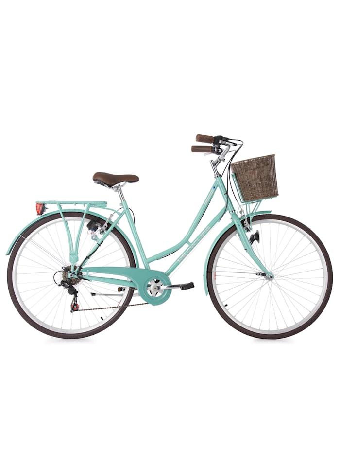 KS Cycling Cityrad 6 Gänge Damenfahrrad Stowage 28 Zoll, grün