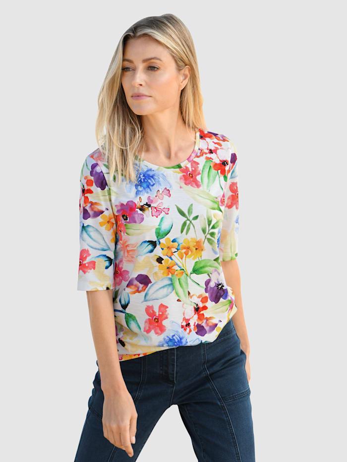 basically you Shirt mit Blumendruck, Gelb