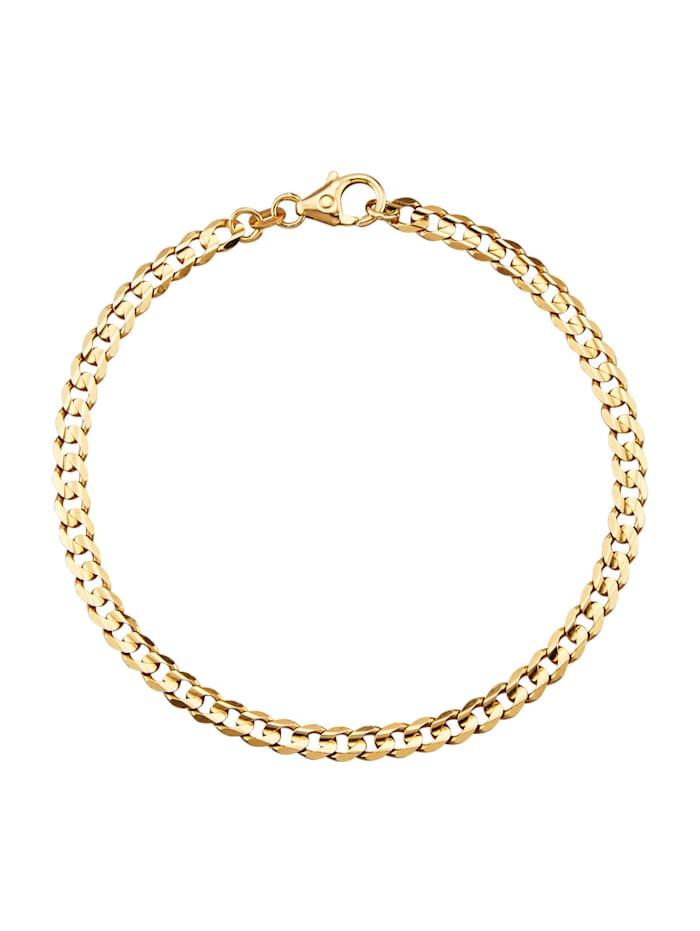 Bracelet maille gourmette en alliage or jaune 333, Coloris or jaune