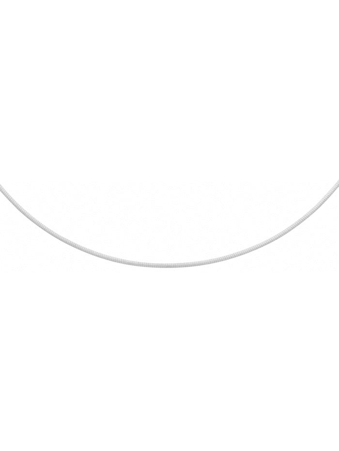 1001 Diamonds Damen Silberschmuck 925 Silber Tonda Halskette 42 cm Ø 2 mm, silber