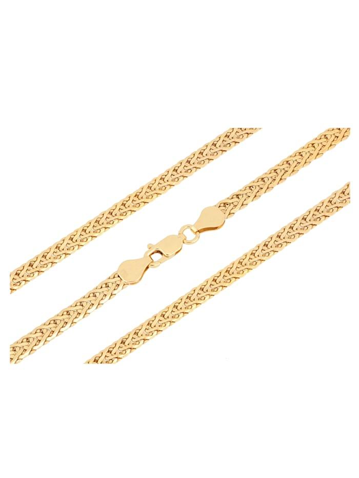 Grazielli Gevlochten armband van 9 kt., Geelgoudkleur