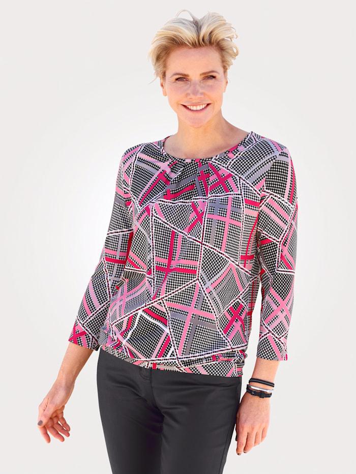 Rabe Shirt, Zwart/Fuchsia