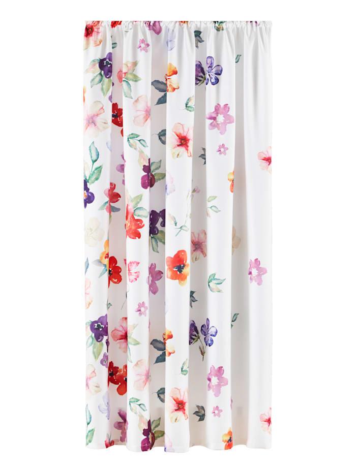 Webschatz Blommig gardin, flerfärgad