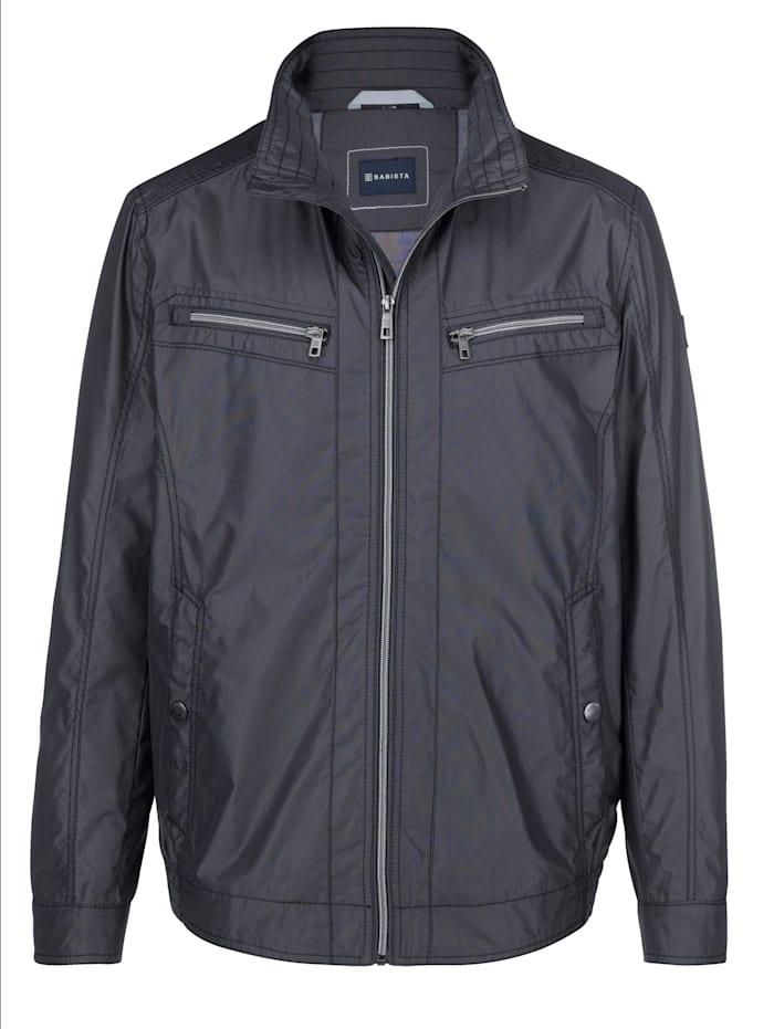 BABISTA Jacke mit feiner zweifarbiger Struktur, Marineblau