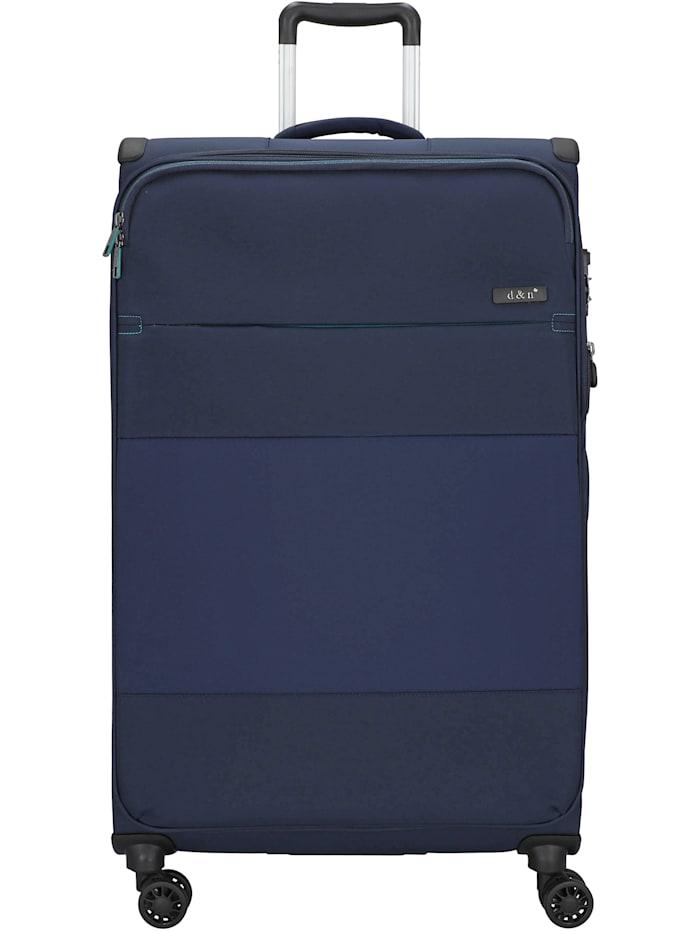 D&N Travel Line 9004 4-Rollen Trolley 79 cm, blau