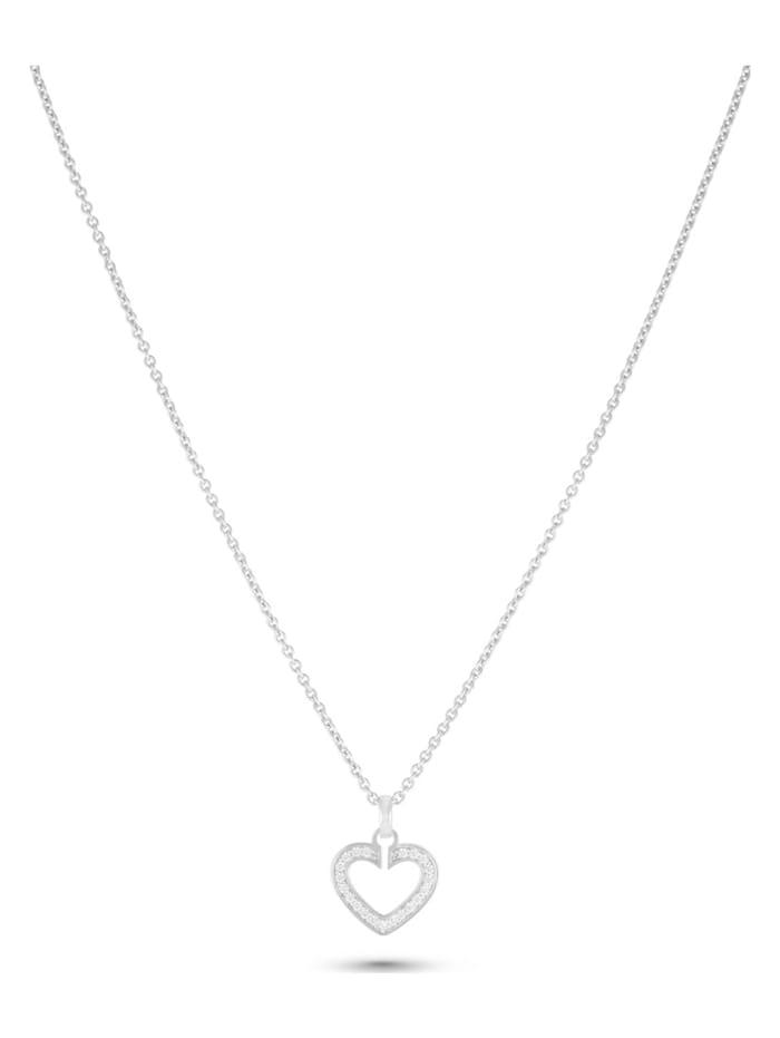 Jette JETTE Silver Damen-Kette 925er Silber 23 Zirkonia, silber