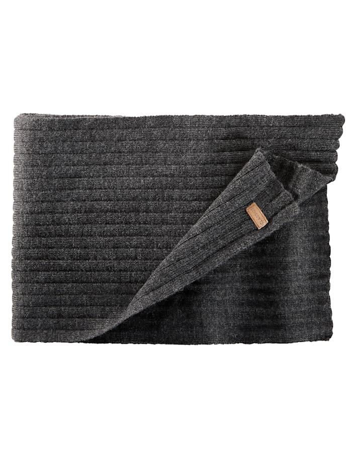 BABISTA Sjaal van zuivere merinoswol, antraciet gemêleerd