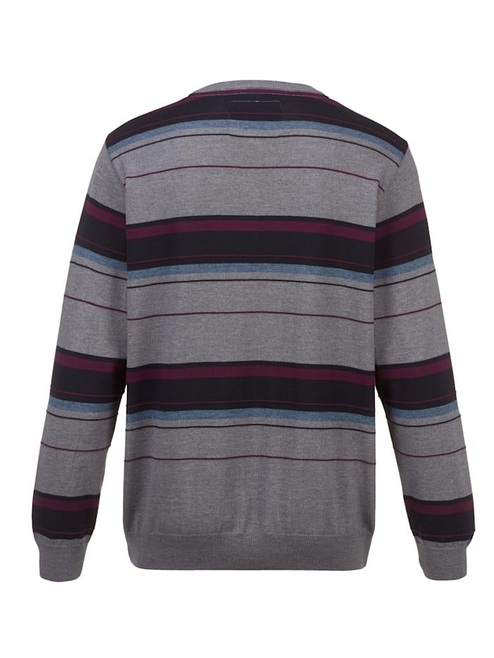 Pullover mit feiner Streifenstruktur