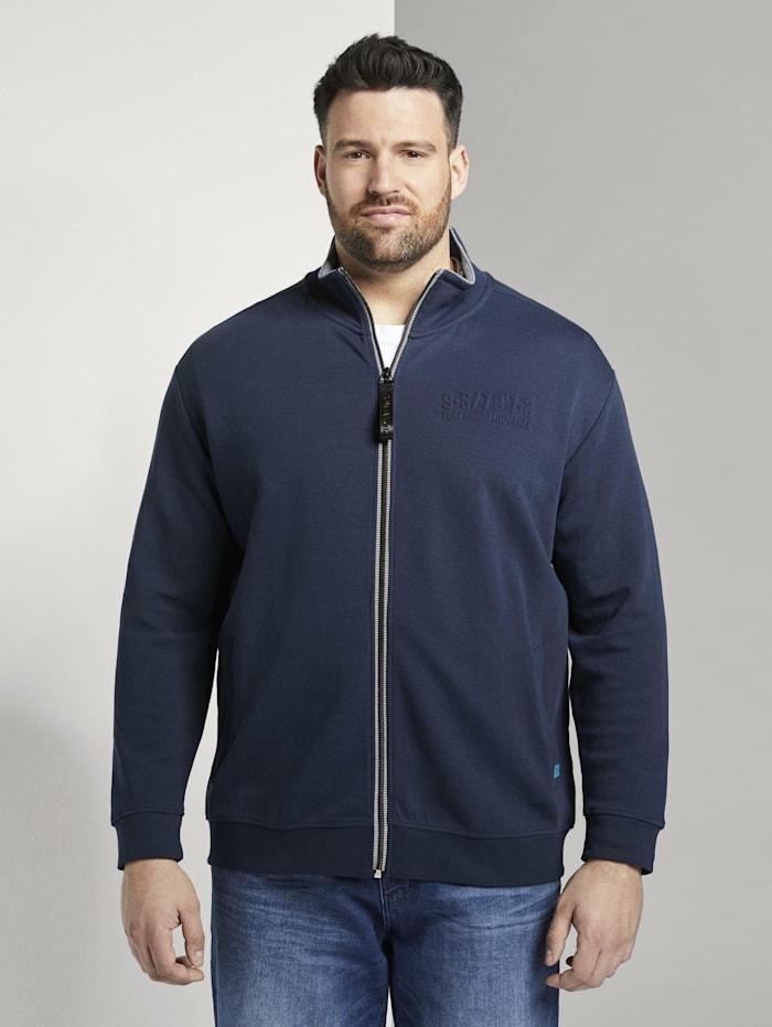 Tom Tailor Men Plus Sweatshirt mit Logo-Prägung, Black Iris Blue