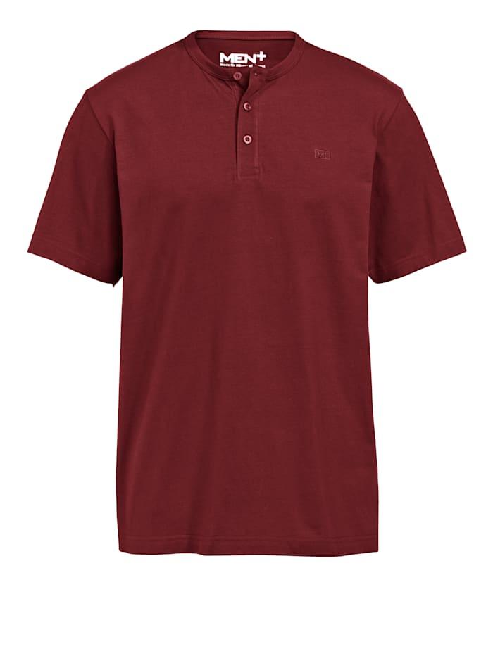 Men Plus Shirt in henleymodel, Rood