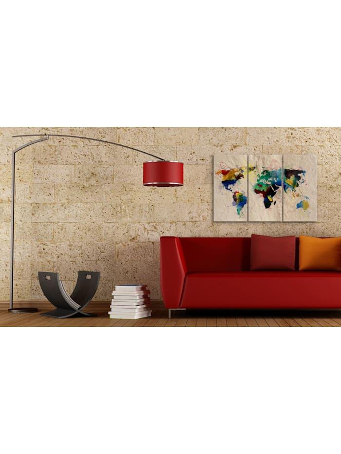 Wandbild Die Welt der Farben - Triptychon