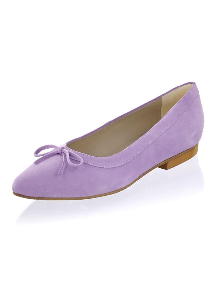 Alba Moda Ballerina in pastelliger Farbe, Flieder