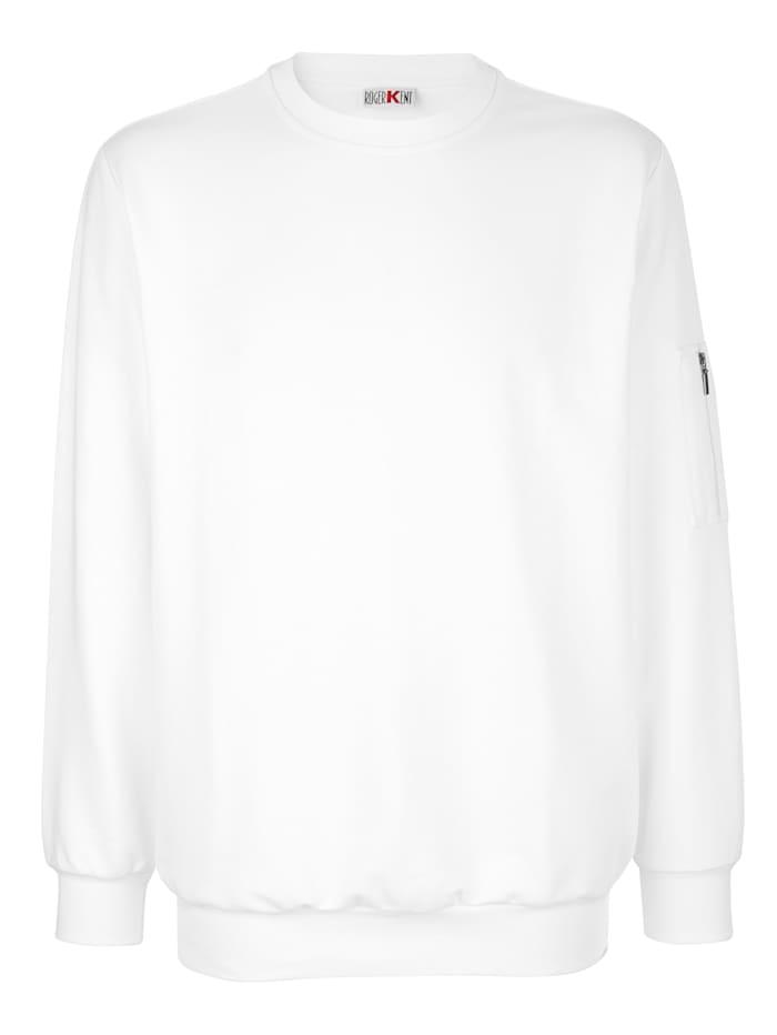 Roger Kent Sweatshirt van zuiver katoen, Wit