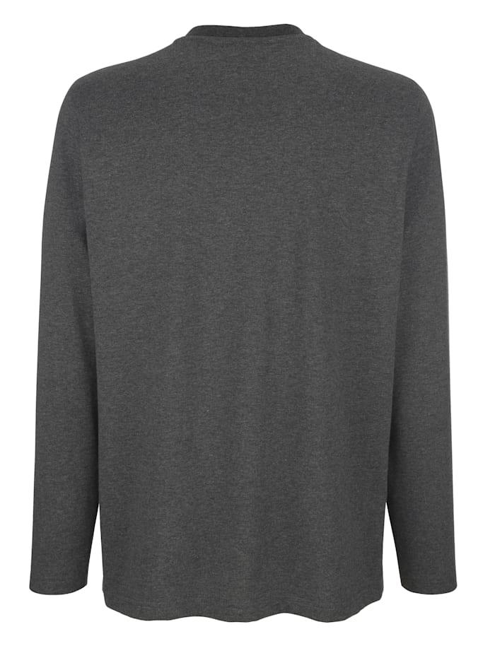 Långärmad tröja med kort knappslå