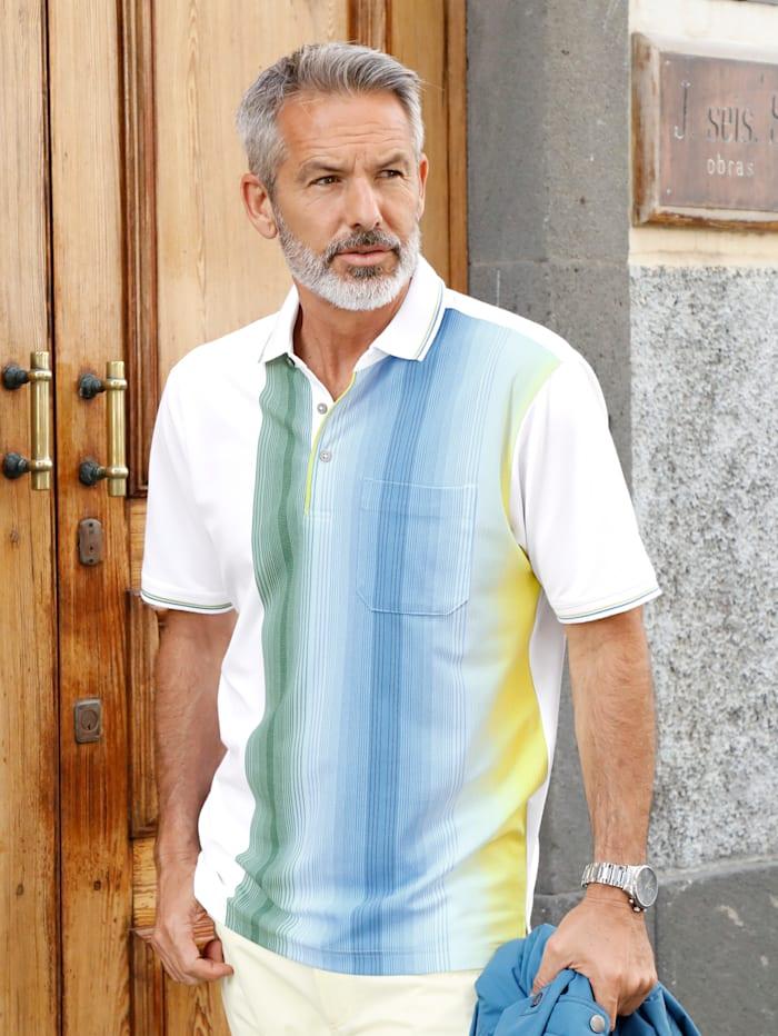 BABISTA Poloshirt bügelfrei, atmungsaktiv, hautsympathisch, trocknerbeständig, Weiß/Gelb/Blau