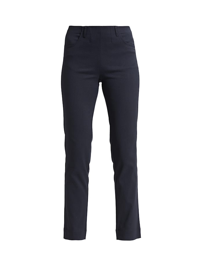 LauRie Hose Kelly mit bequemer Regular-Passform, Midnight Blue jacquard
