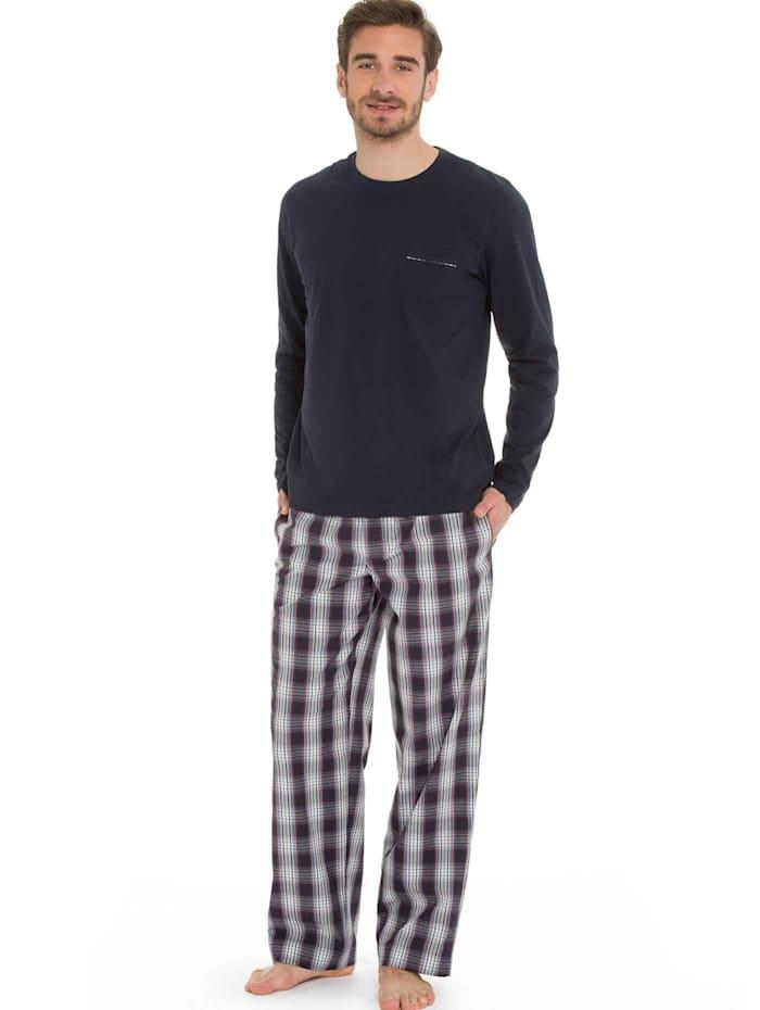 Jockey Pyjama mit Webhose, navy
