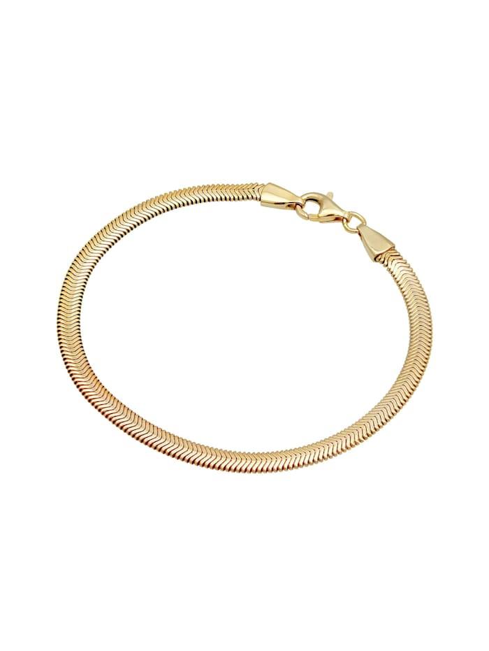 Armband Flach Elegant Schlangenkette Fischgräte 925 Silber