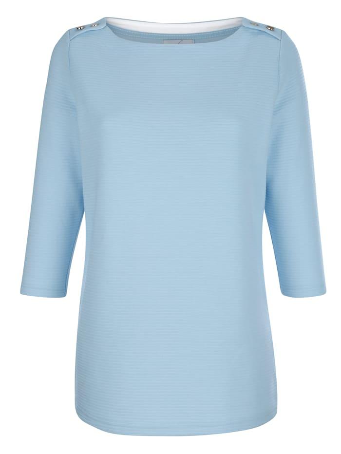 Sweat-shirt en matière texturée