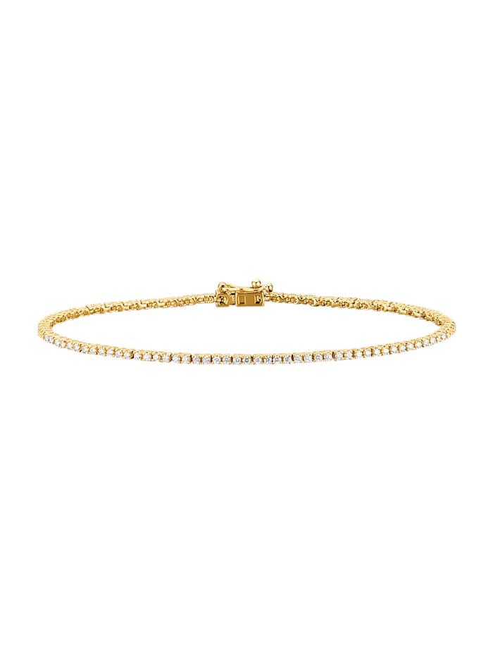 Amara Diamants Bracelet avec brillants, Blanc