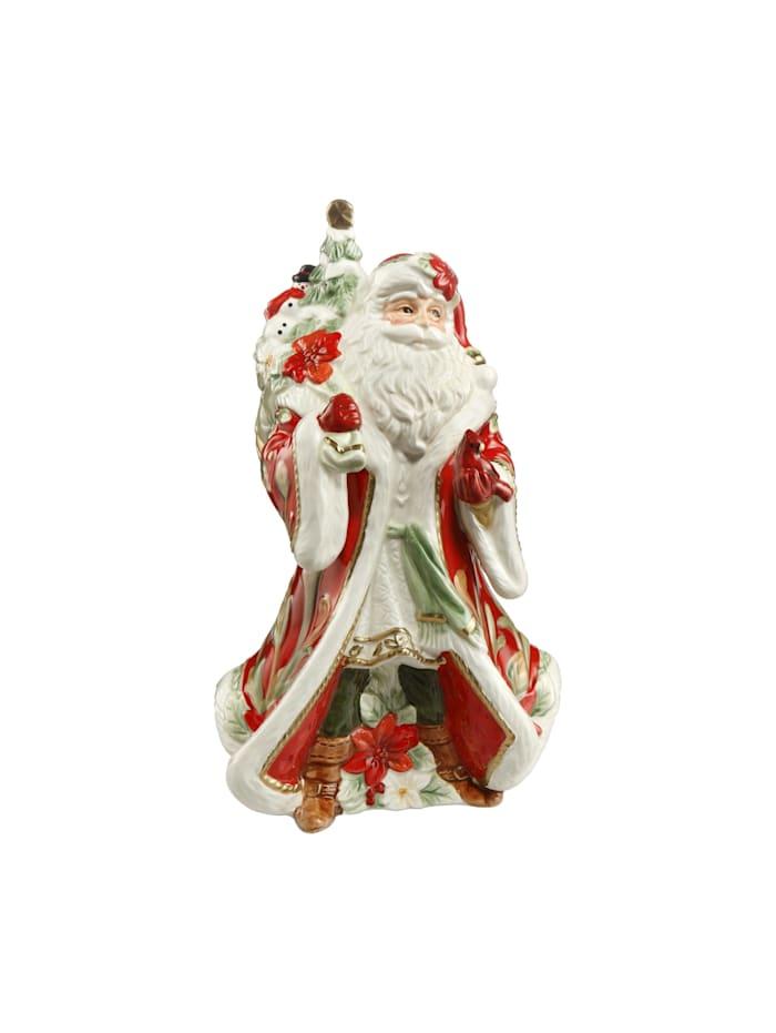 Fitz&Floyd Fitz&Floyd Spieluhr Santa mit Geschenken auf dem Rücken, bunt