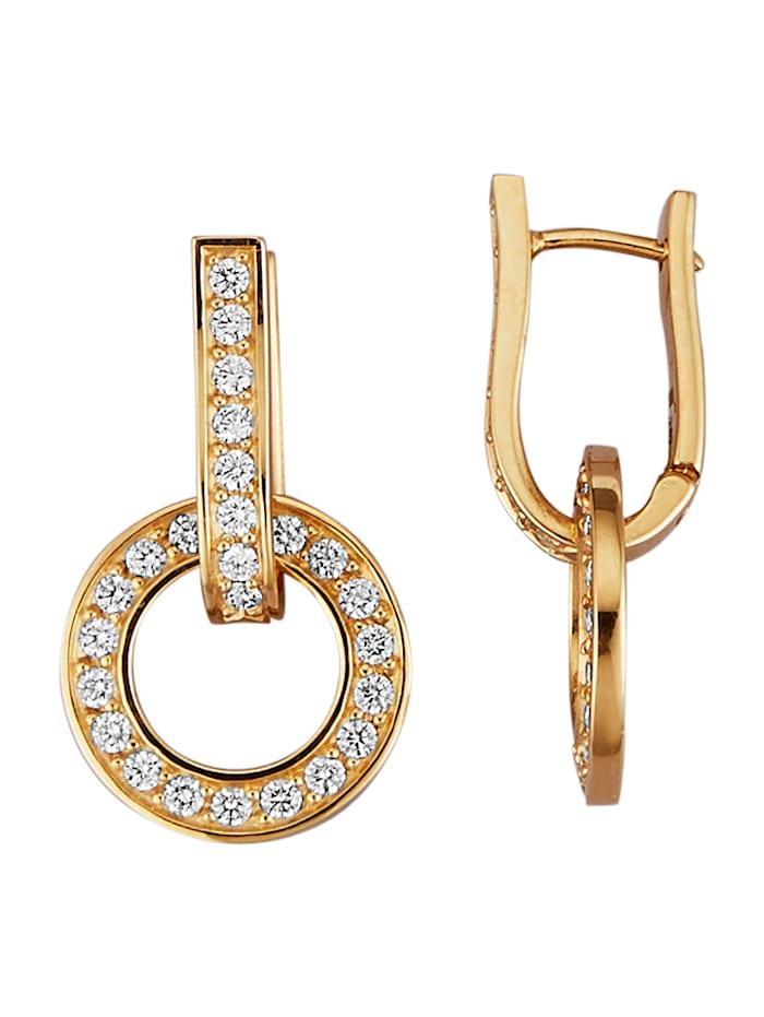 Diemer Diamant Klappcreolen mit 52 Brillanten, Weiß