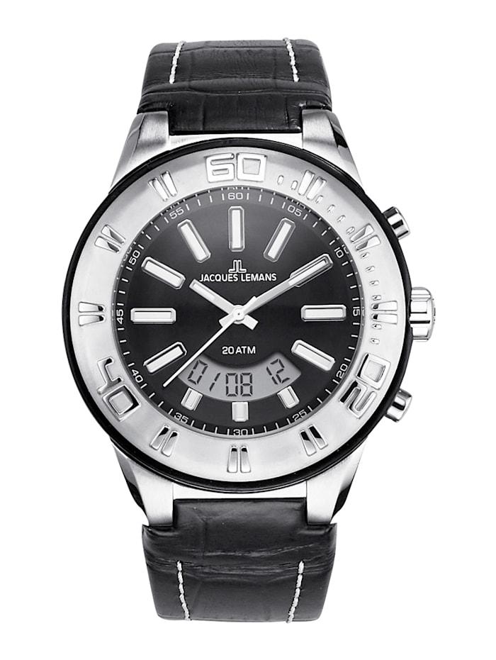 Jacques Lemans Horloge 1-1772A, Zwart