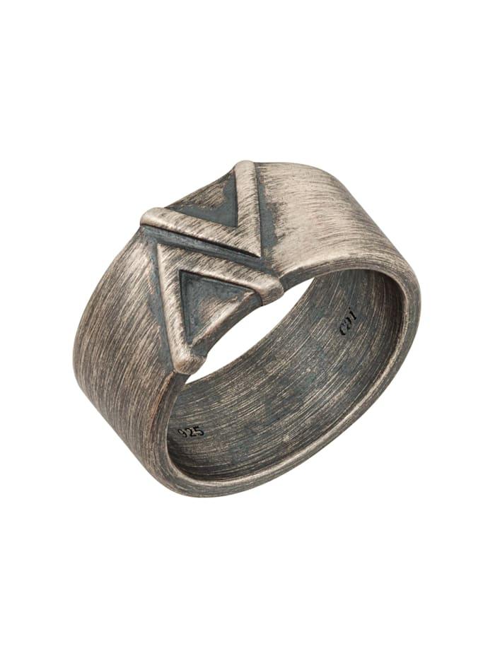 Ring 925/- Sterling Silber ohne Stein Geschwärzt