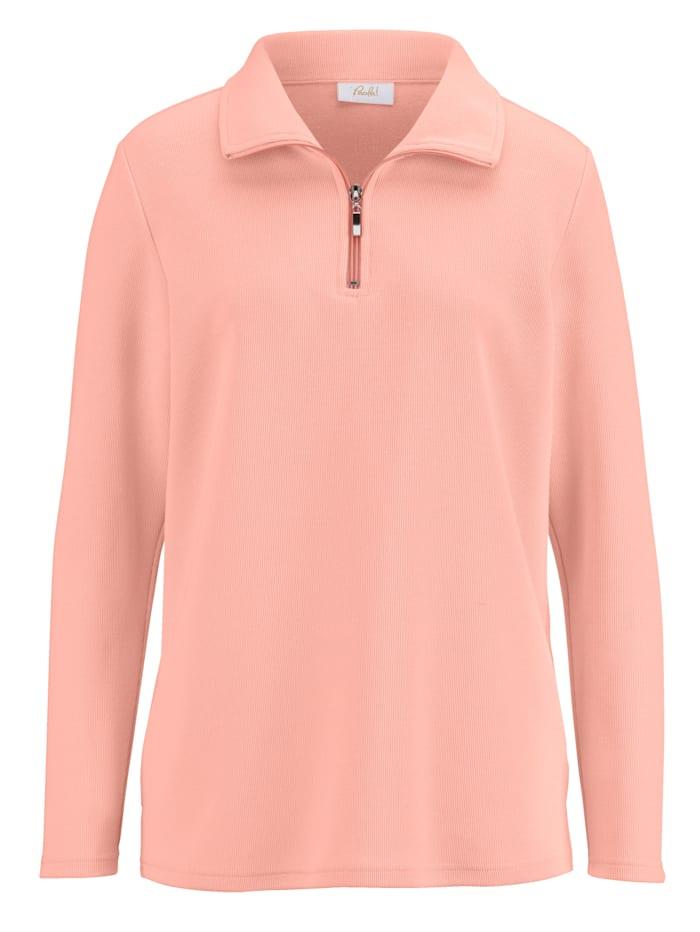 Dress In Sweatshirt mit Reißverschluss, Apricot