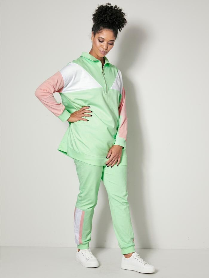 Jogginghose mit Colourblocking Streifen seitlich