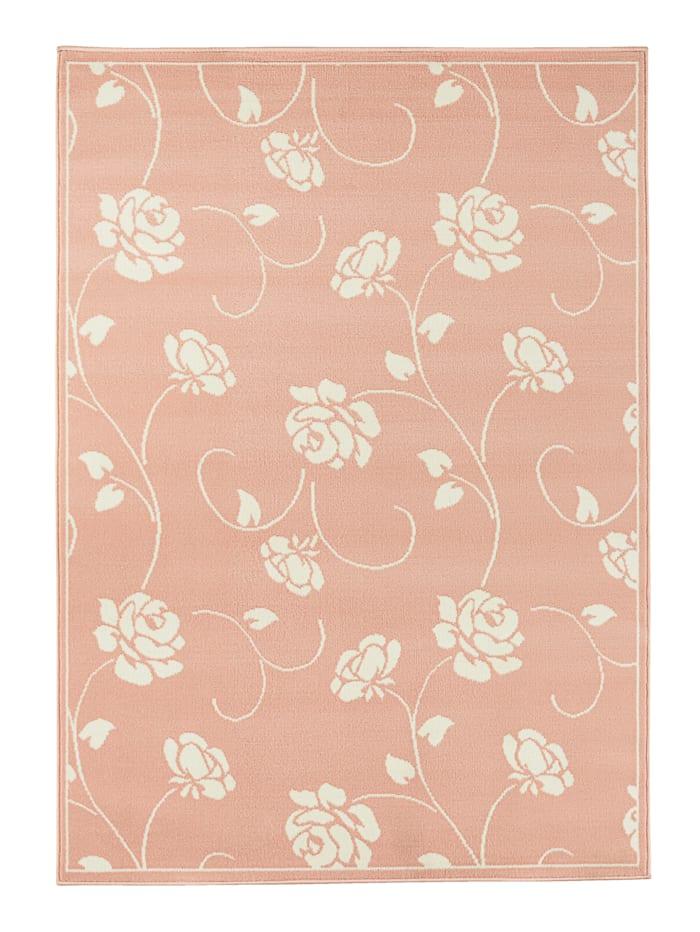 Webschatz Webteppich 'Floris', Rosa