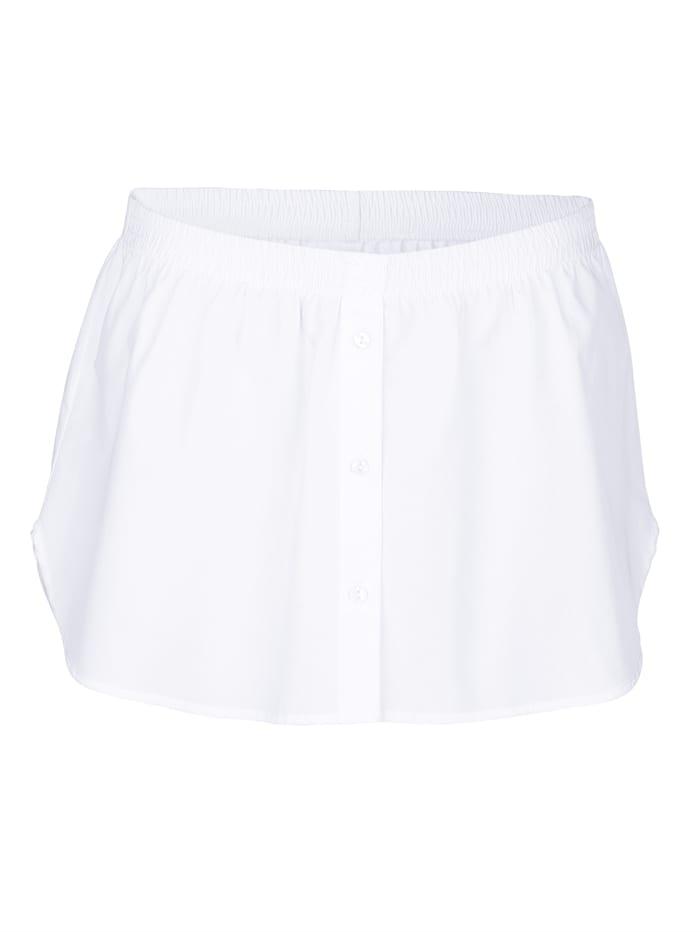 AMY VERMONT Bluse mit bequemen Gummizug, Weiß