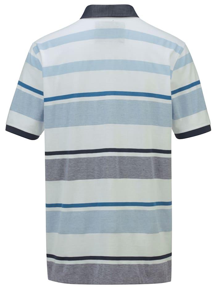 Poloshirt met streepdessin rondom