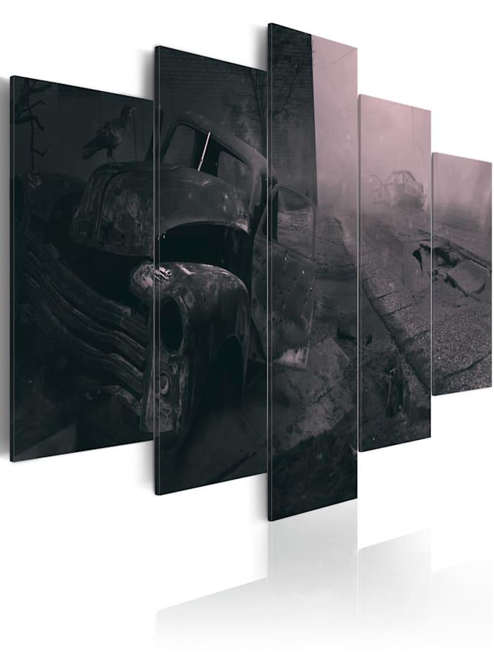 artgeist Wandbild Fear street, Schwarz,Grau,rosa