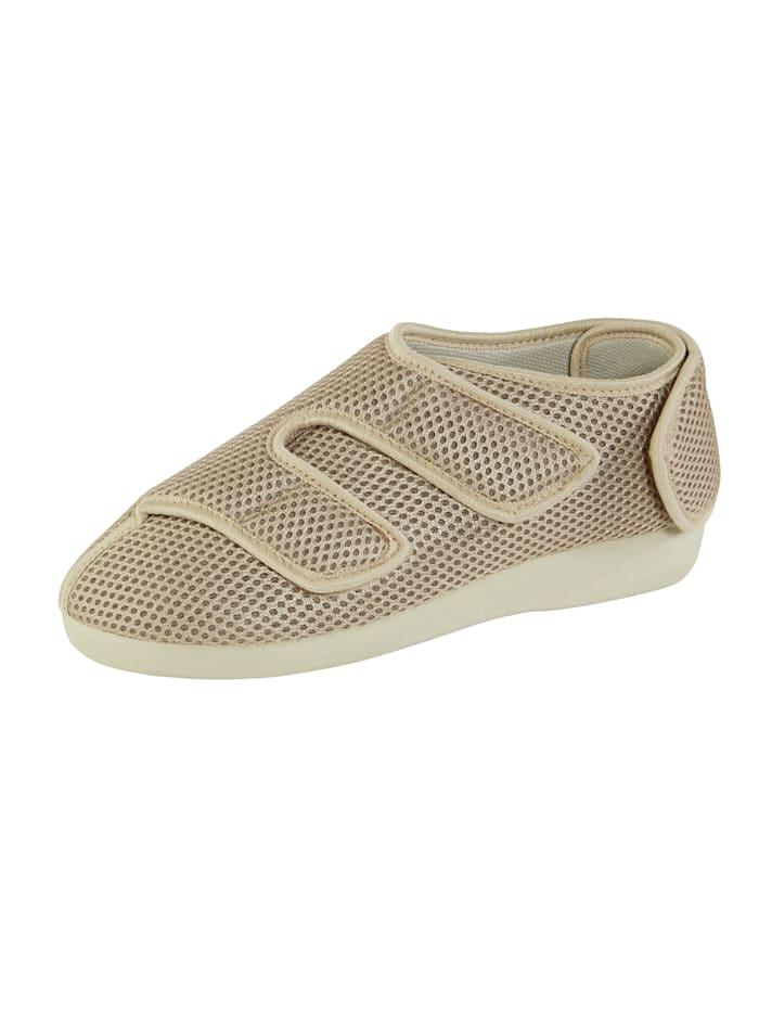 OrthoMed Hausschuh ideal geeignet bei empfindlichen Füßen, Beige