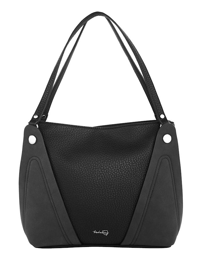 Taschenherz Handbag made from a premium-quality fabric, Black
