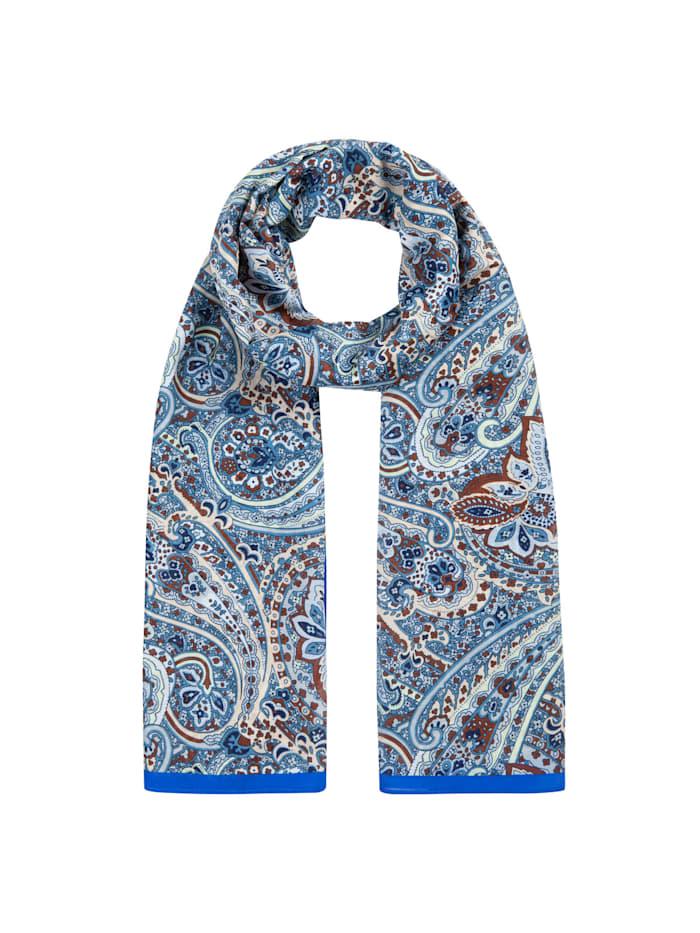 Codello Hauchfeiner Paisley-Schal aus Baumwolle und Seide, jeans blue
